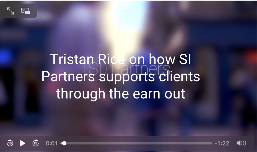 Tristan Rice on supporting clients through the earn out