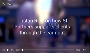 Tristan Rice on supporting clients through the earn out.