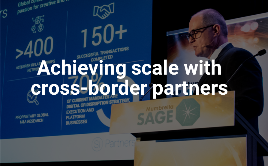 Achieving scale with cross-border partners