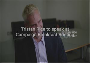 Tristan Rice Campaign breakfast