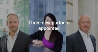 Three new partners appointed